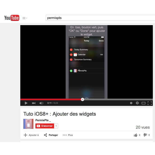 PermisPts app youtube widget how to