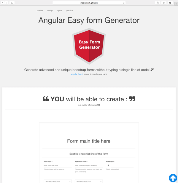 Easy Form Generator Website